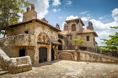Alt de Chavon by, La Romana i Dominikanska republiken Royaltyfri Bild