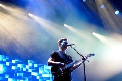 Alt-j indie alternatieve band levende prestaties bij het Correcte 2015 Festival van Primavera stock afbeelding