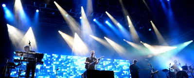 Alt-J (indie rock band) performs at Primavera Sound 2015 Festival Stock Image
