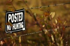 Alt kein Jagdzeichen lizenzfreie stockfotografie
