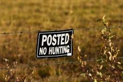 Alt kein Jagdzeichen stockbild