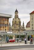 Alt-markt (vecchio quadrato del mercato) a Dresda germany Immagine Stock