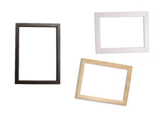 Alt, Rahmen auf weißem Hintergrund Stockbilder