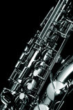 Alt saxophone. An Alt saxophone in black and white Stock Images