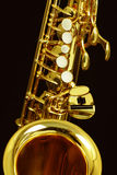 Alt saxophone. An Alt saxophone in gold Royalty Free Stock Photo