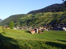 Alt St Johann in het Toggenburg-gebied en in de Thur-Riviervallei royalty-vrije stock fotografie