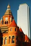 Alt und neu in Dallas Stockbild