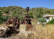 Alt, verlassen dem Mechanismus für anhebendes Wasser Griechenland Lizenzfreie Stockfotografie