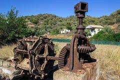 Alt, verlassen dem Mechanismus für anhebendes Wasser Griechenland Lizenzfreie Stockbilder