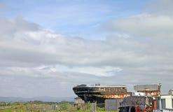 Alt versenden Sie Wracke in Ayr Schottland Stockfotografie
