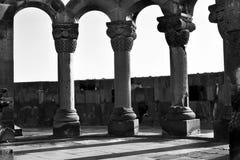 Alt von Zvartnots-Tempel, Armenien Lizenzfreies Stockfoto