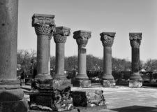 Alt von Zvartnots-Tempel, Armenien Stockbild