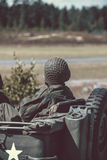 Alt wir Armeejeep stockfoto
