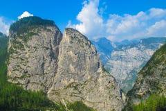 Alta через в доломиты Стоковые Изображения