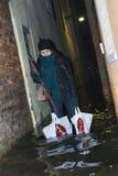 Alta acqua 02 di Venezia Immagini Stock Libere da Diritti