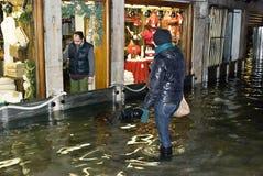 Alta acqua 04 di Venezia Immagine Stock