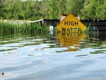 Alta acqua fotografie stock libere da diritti