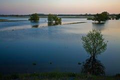 Alta acqua Fotografia Stock