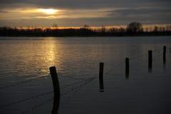 Alta acqua nei Paesi Bassi Fotografia Stock Libera da Diritti