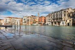 Alta acqua a Venezia Fotografie Stock