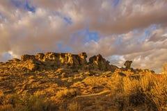 Alta alba dei calanchi del deserto nel Wyoming Fotografia Stock Libera da Diritti