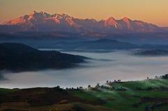 Alta alba di Tatras Fotografia Stock Libera da Diritti