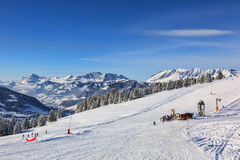 Alta altitude Ski Domain Imagem de Stock