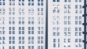 Alta animazione astratta dell'edificio per uffici di aumento video d archivio