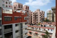 Alta architettura di lusso dell'attico dei grattacieli Fotografie Stock Libere da Diritti