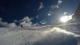 Alta Badia-Erholungsort - Sella Ronda - italienische Alpen - Dolomiti Supers Stockfotografie
