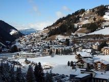 Alta Badia-Erholungsort - Sella Ronda - italienische Alpen - Dolomiti Supers Stockbilder