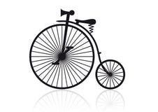 Alta bicicleta de la rueda stock de ilustración