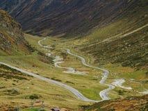 Alta bobina alpina della strada Immagine Stock