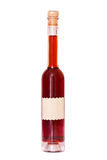 Alta bottiglia sottile di vino con il contrassegno vuoto Fotografie Stock