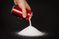 Alta cantidad de azúcar en bebidas imágenes de archivo libres de regalías