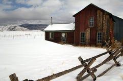 Alta casa di ranch del paese del Colorado Fotografie Stock Libere da Diritti