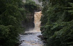 Alta cascada de la fuerza Fotografía de archivo