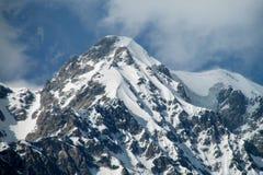 Alta catena montuosa della neve Fotografia Stock Libera da Diritti
