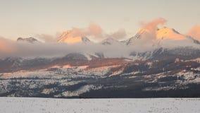 Alta catena montuosa di Tatras Fotografia Stock Libera da Diritti