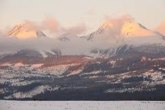 Alta catena montuosa di Tatras Immagini Stock Libere da Diritti