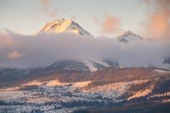 Alta catena montuosa di Tatras Fotografia Stock
