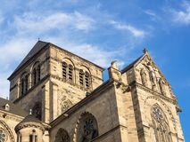 Alta cattedrale di St Peter in Treviri Fotografia Stock
