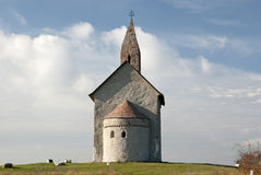 Alta chiesa romanica St Michael Fotografie Stock Libere da Diritti