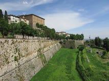 Alta città di Bergamo Immagini Stock