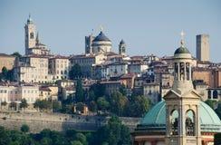 Alta città di Bergamo Fotografia Stock Libera da Diritti