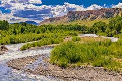 Alta corrente delle pianure del Wyoming Immagini Stock