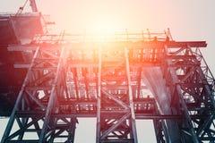 Alta costruzione Buildin della struttura d'acciaio Immagini Stock