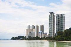 Alta costruzione dal mare a Penang Malesia Fotografia Stock