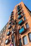 Alta costruzione del brickwall a Amburgo Fotografie Stock Libere da Diritti