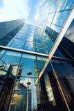Alta costruzione del vetro e del calcestruzzo nella capitale Immagini Stock Libere da Diritti